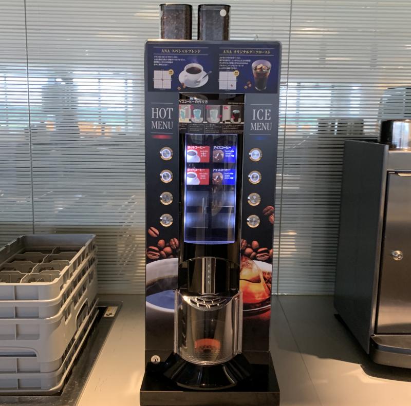 成田空港ANAラウンジコーヒーマシーン