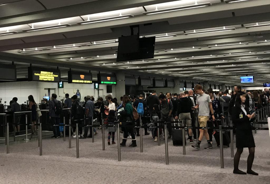 香港国際空港イミグレーション