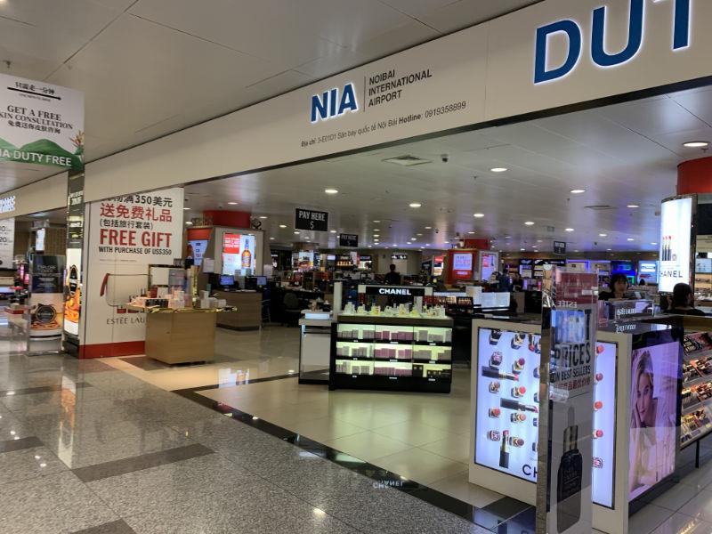 ノイバイ国際空港免税ショップ