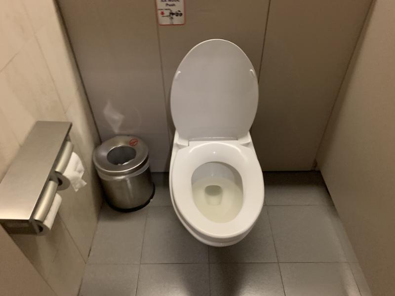 ノイバイ国際空港ビジネスラウンジトイレ