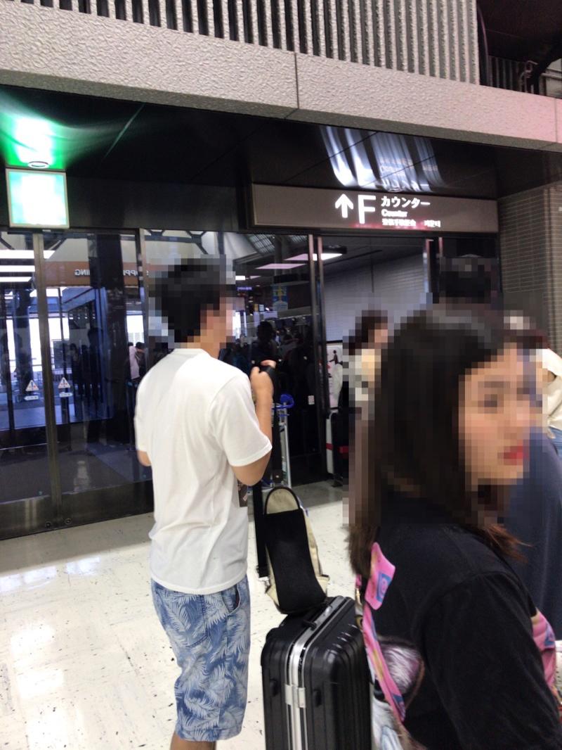 ベトジェットの成田空港でのチェックイン所