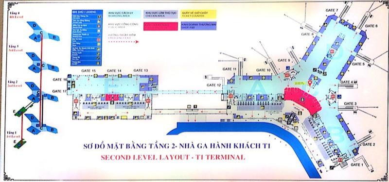ノイバイ空港案内図