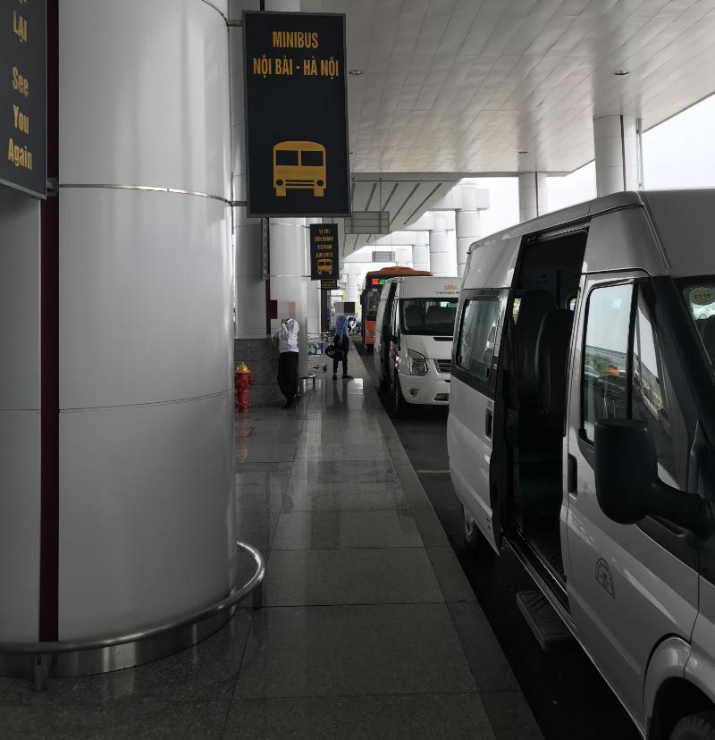 ノイバイ国際空港ミニバス乗場