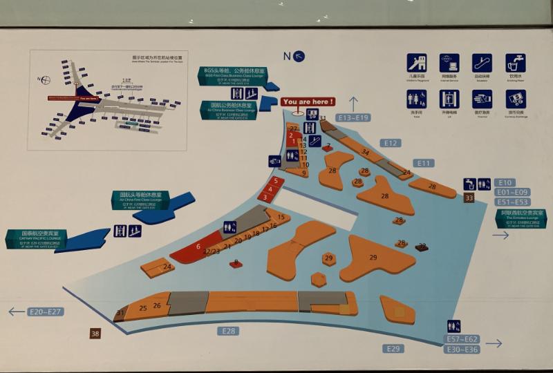 北京首都国際空港地図