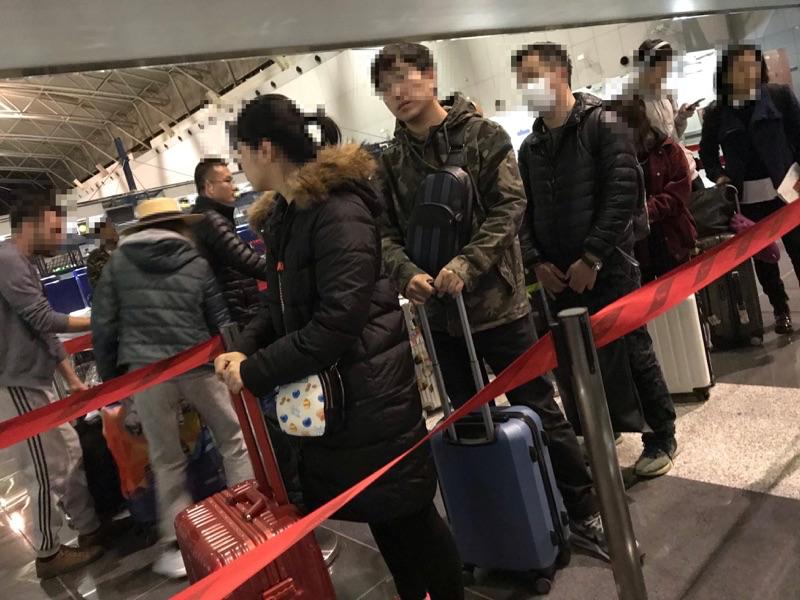 海南航空 北京首都航空第2ターミナルでのチェックイン