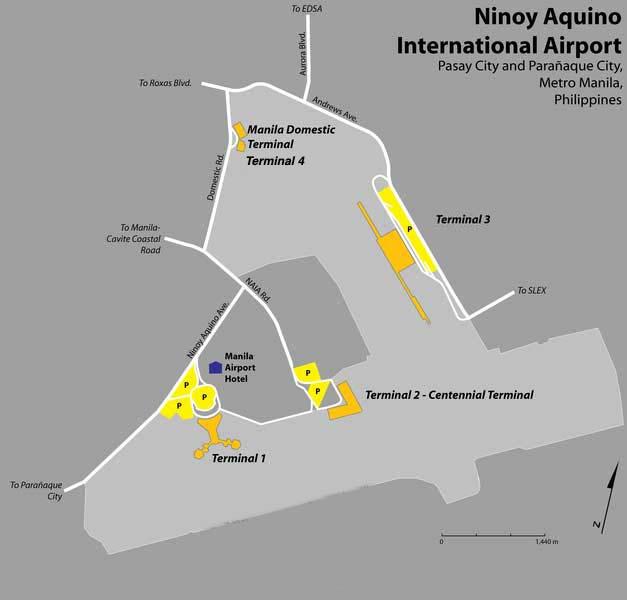 ニノイ・アキノ国際空港地図