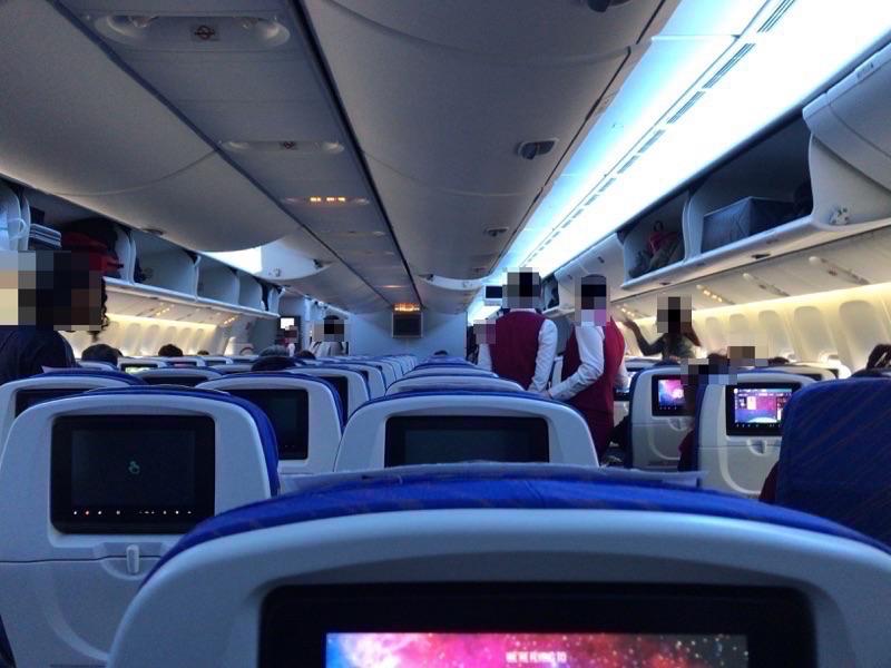 中国南方航空 機内の様子