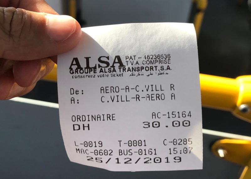 alsa 19番バス