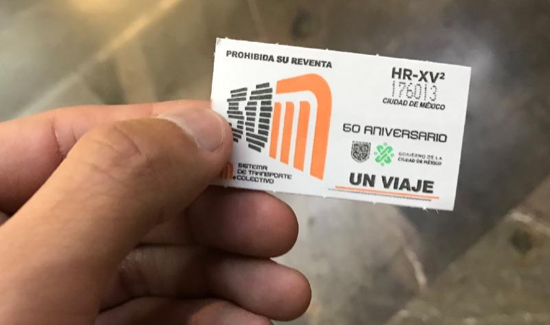 メキシコシティ メトロ チケット